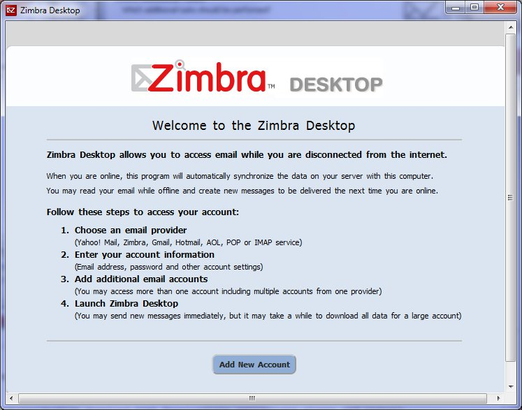 Zimbra client - arcs